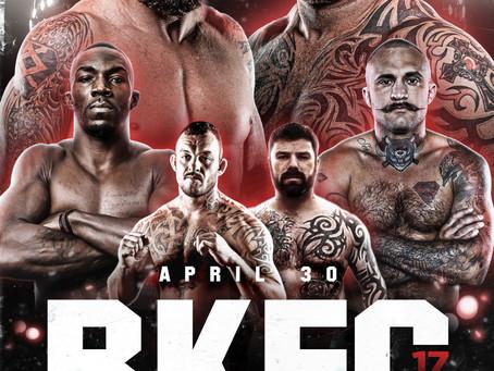 BKFC 17 hits Birmingham, Alabama on Friday, April 30, live on the BKTV App