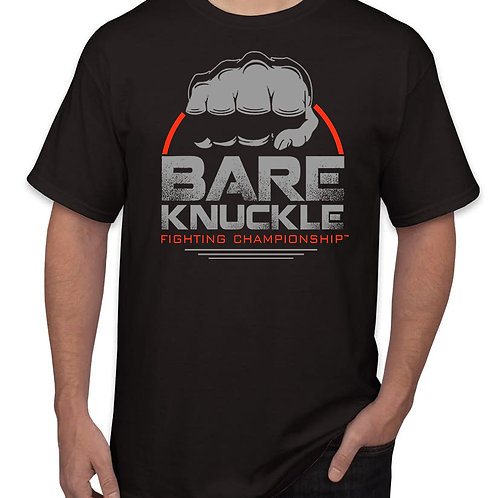 Bare Knuckle FC Circle Logo Shirt - Black/Gray/Red