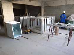 Caixilhos de dormitórios em pré -montage