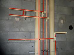 detalhe do ramal de água quente