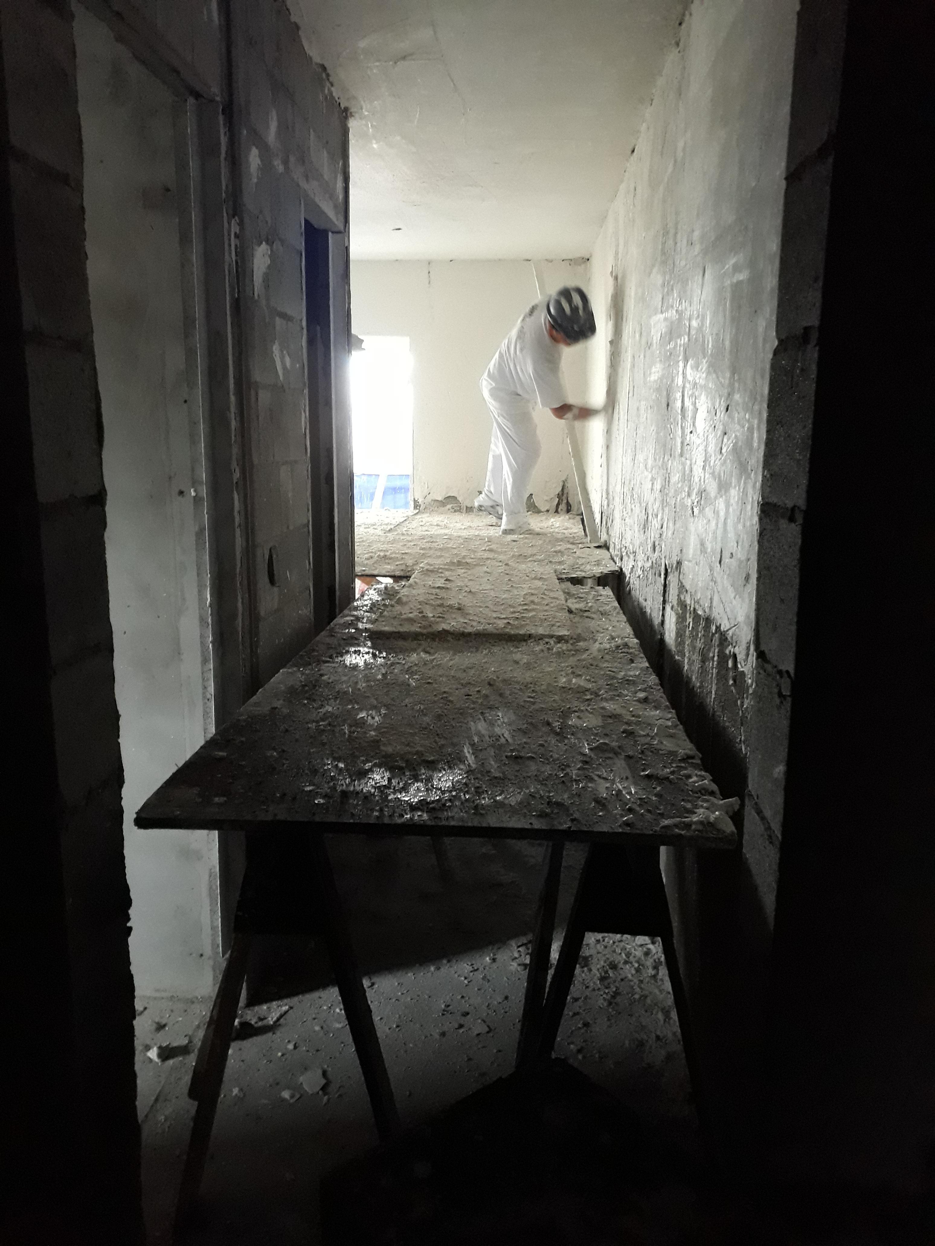 Execução gesso liso - 11ºpavto
