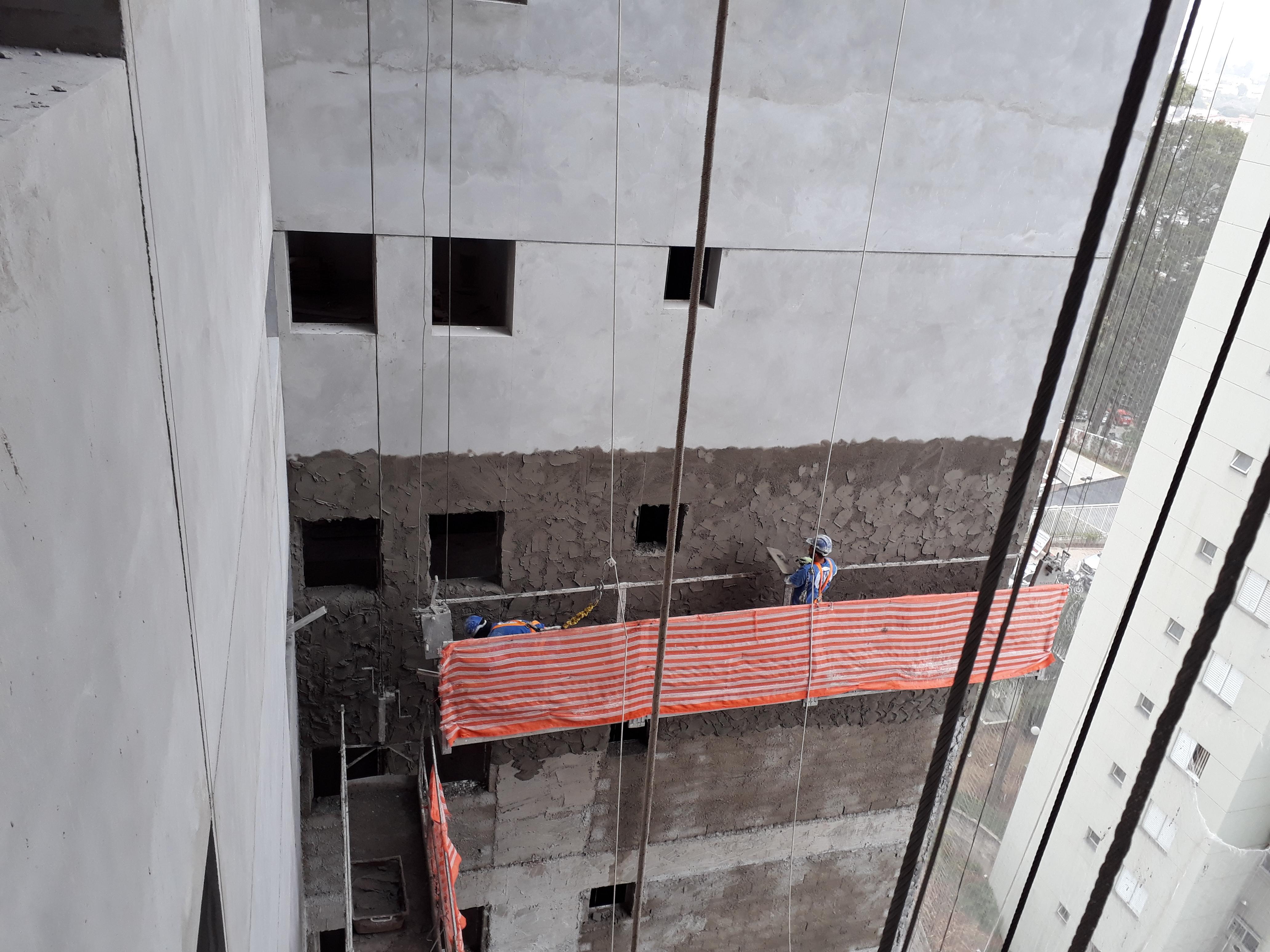 Execução revestimento externo - fachada