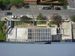 Vista aérea do pergolado da Rua Tung