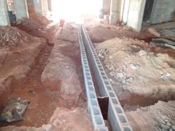 Escavação de valas de drenagem 2oSS