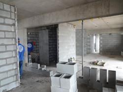 Finalizando alvenaria interna - 12º andar