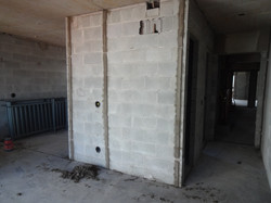 Execução faixas para gesso - 4º andar