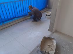 Rejuntamento de piso da sacada