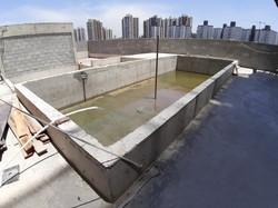 Teste de carga da piscina
