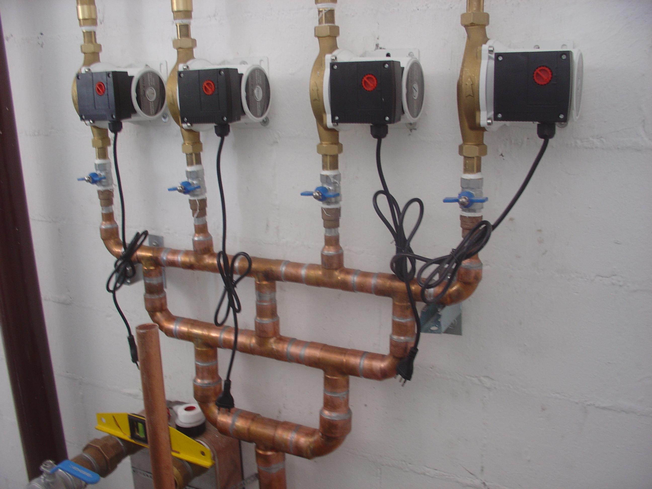 Kit de recirculação do aquecimento