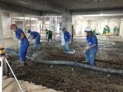 Concretagem piso 2º subsolo