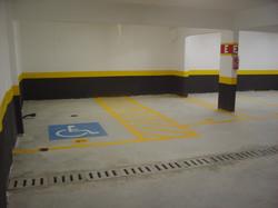 Pintura de vagas da garagem