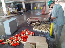 Preparação dos misturadores em bancada