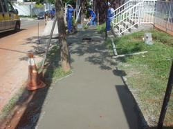 Execução da calçada