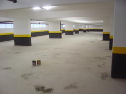 Garagens sendo pintadas