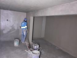Impermeabilização da caixa d'água inferior