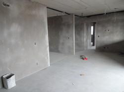 Execução de massa em paredes - 1º andar
