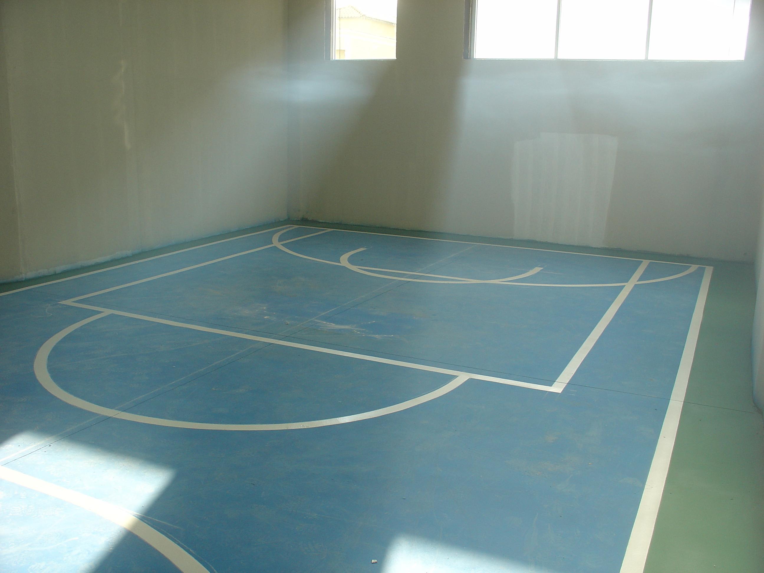 Pintura do piso da mini quadra