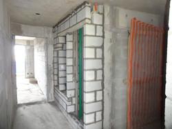 Alvenaria shaft do hall dos elevadores