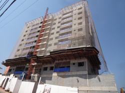 Vista da fachada em execução