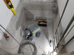 Montagem dos elevadores Bloco A
