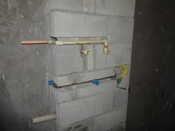 Ramal do shaft da área de serviço
