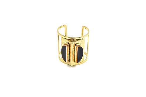 Ester Black agate cuff