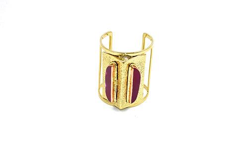 Leah Pink agate cuff