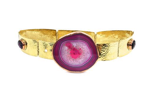 Bertha Pink agate belt