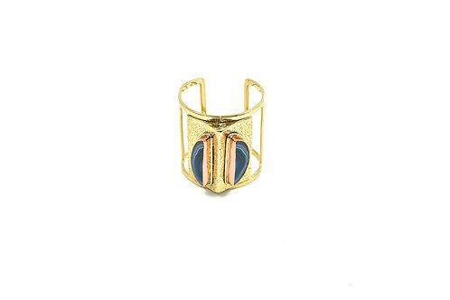Odi Blue agate cuff