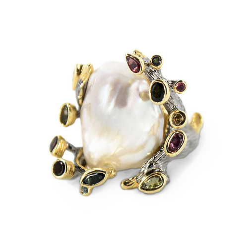 The Crown Baroque Pearl Ring