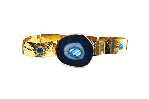 Áurea Blue agate belt