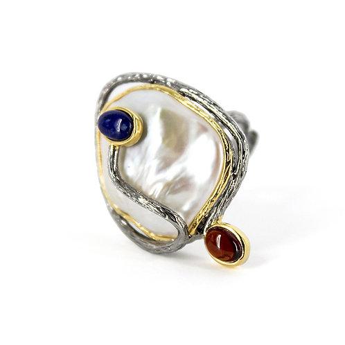 Saturn Baroque Pearl Ring