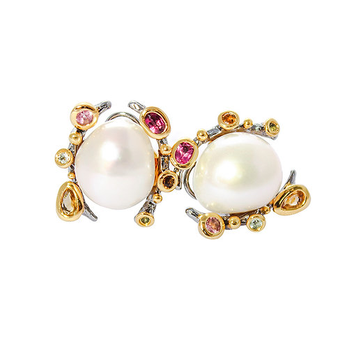 The crown baroque pearl earrings