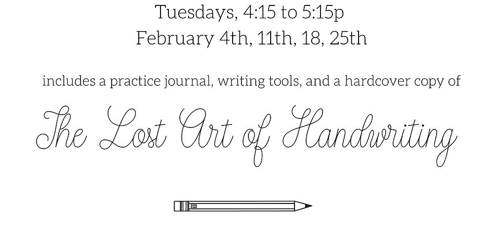 Intro to Cursive Handwriting