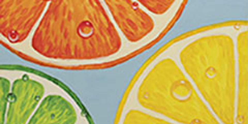 Paint night- Citrus Slice Wall Art