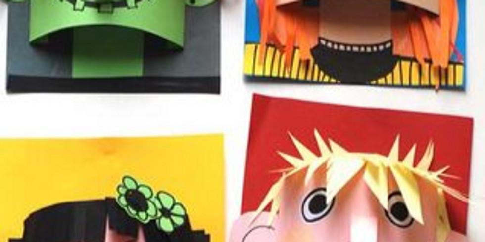 HS+A2 3D Paper Sculpture Monsters