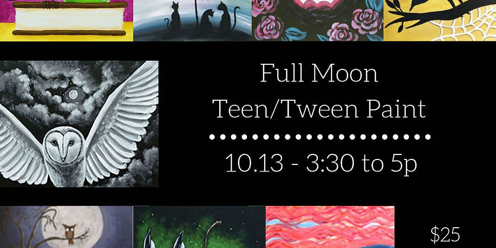 Teen/tween 'Full Moon' Paint-a-long