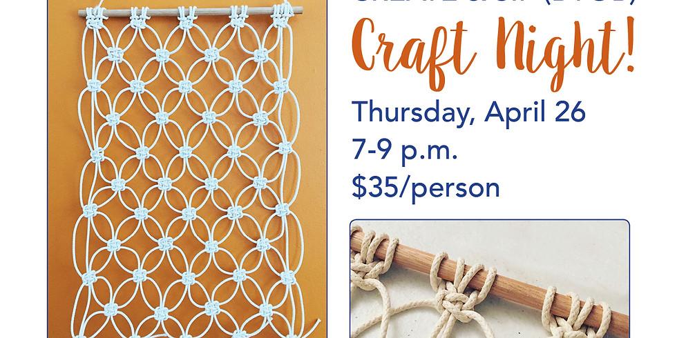 Craft Night Out, Macrame Wall Hanging