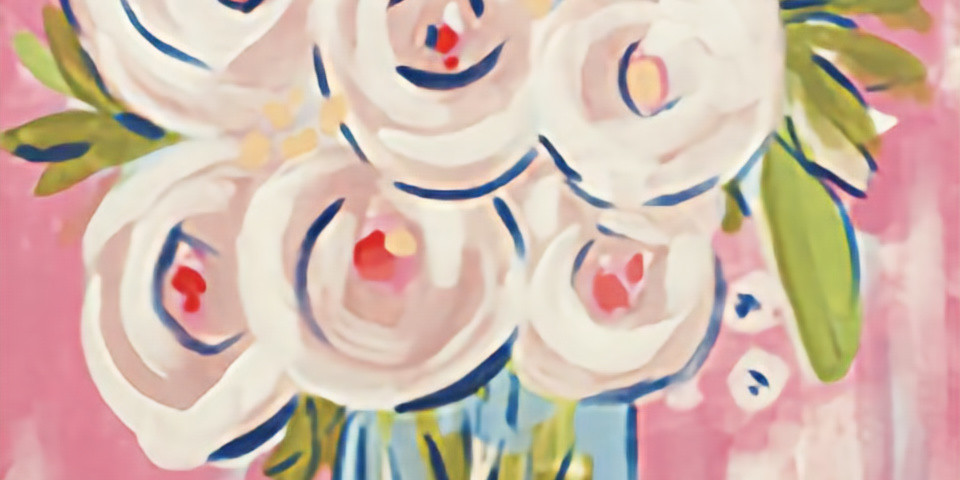Paint Night Abstract Peonies