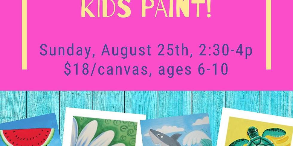So Long Summer Kids Paint
