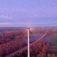 Windkraftanlage am Sauwasen