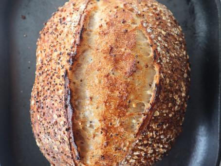 Recipe: Quinoa & Sorghum Sourdough Bread