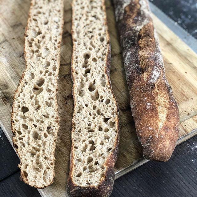 Recipe: Sourdough Whole Grain Baguettes