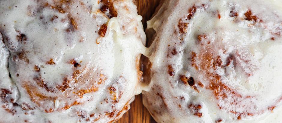 Recipe: Sourdough Pecan Cinnamon Rolls with Citrus Infused Cream Cheese Frosting