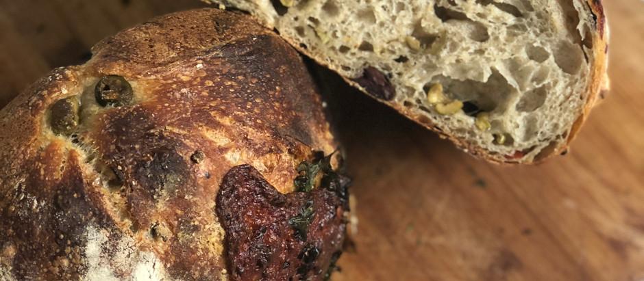 """Recipe: The """"Muffaletta"""" Sourdough Loaf"""
