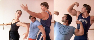 Arnold Schwarzenegger and Franco Columbu took ballet classes to help with their posing.