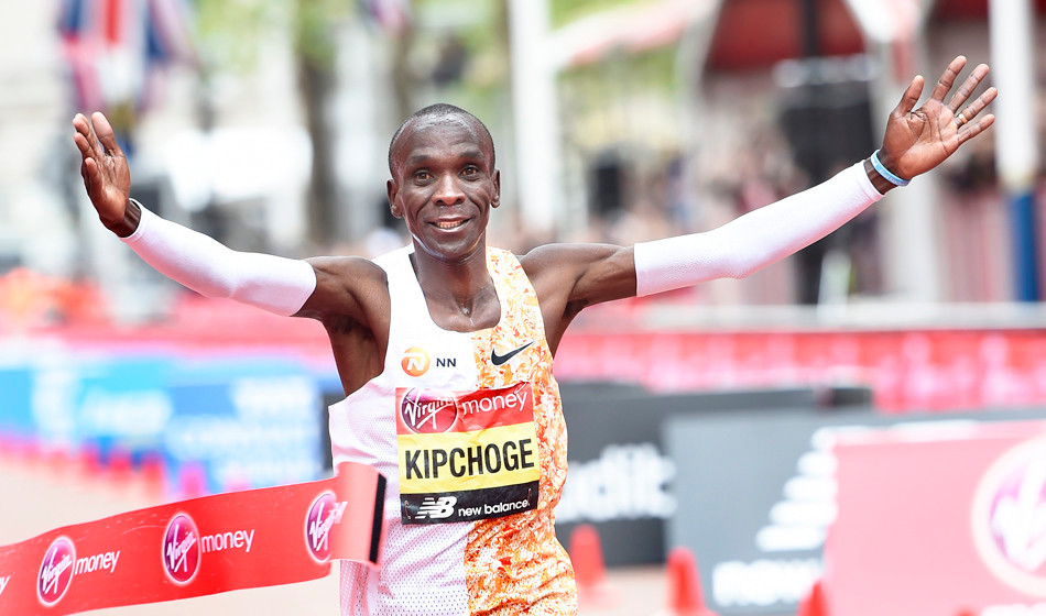 Eliud Kipchoge has been breaking marathon records every year and will attempt an under-2-hour mark soon.