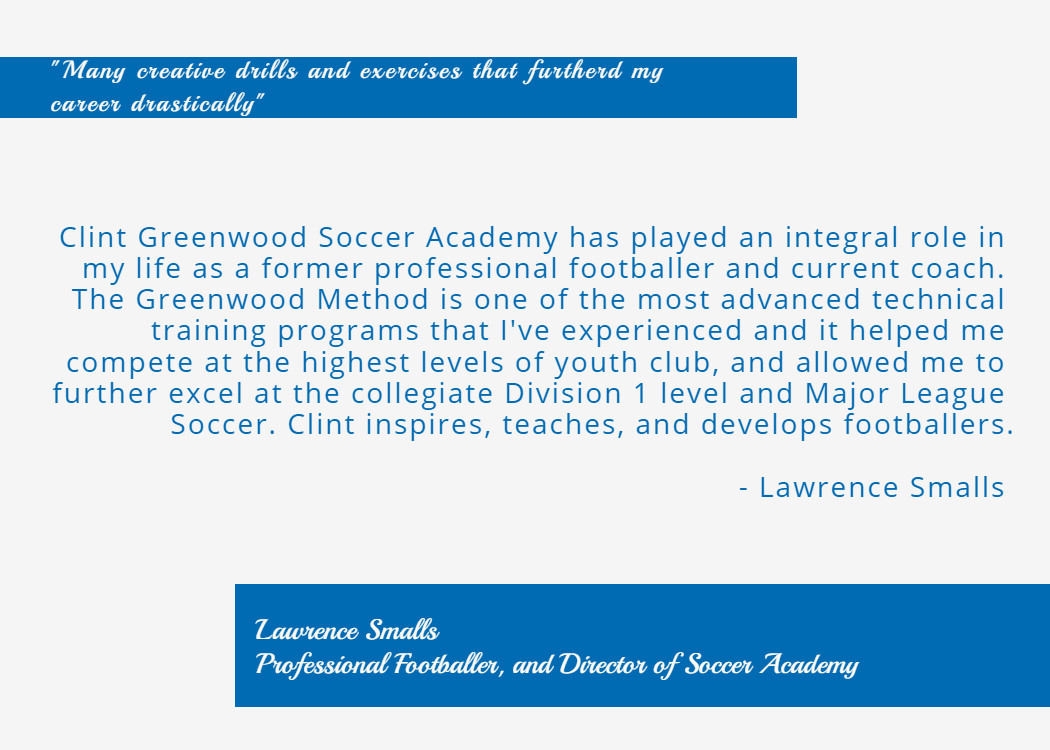 Lawrence Small, Professional Soccer Player and Coach