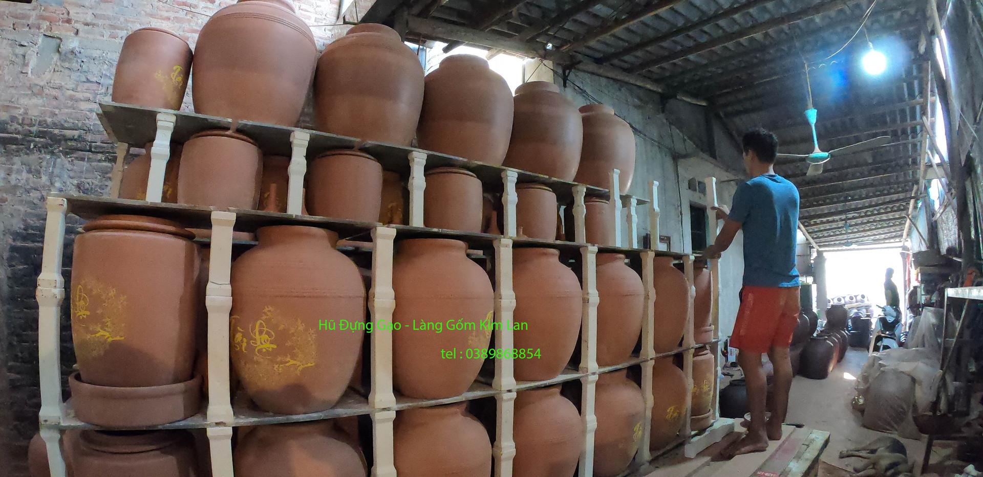 hũ đựng gạo - làng gốm kim lan 2