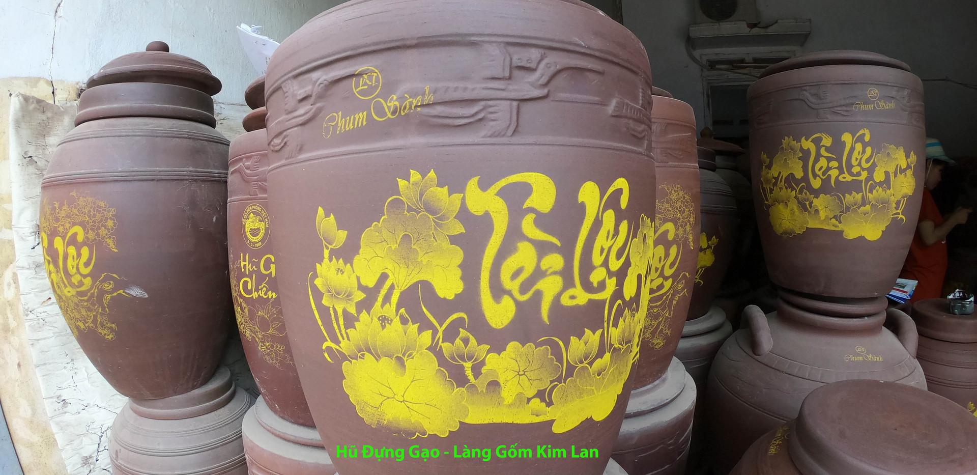 hũ đựng gạo - làng gốm kim lan